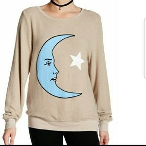 NWOT Wildfox Moon and Star Pullover